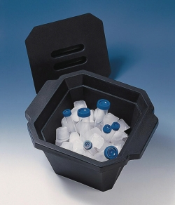 Cooling boxes, PUR, with lid