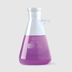 Filter flasks, Erlenmeyer shape, borosilicate glass 3.3