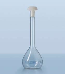 Volumetric flask DURAN®, class A, blue graduated