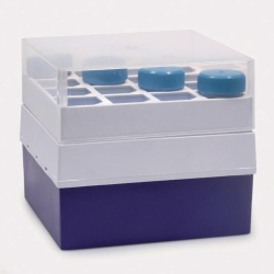 Storage box with lid, PP, for centrifuge tubes