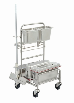 Cleaning trolleys Clino® CR4 EM-GMP, stainless steel