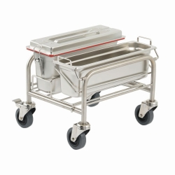 Cleaning trolleys Clino® CR mini EM-GMP1, stainless steel