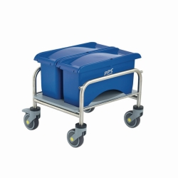 Cleaning trolleys Clino® CR mini EM-CR1, stainless steel