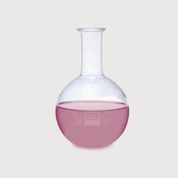 Flat bottom flasks, borosilicate glass 3.3