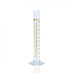 Measuring cylinder, DURAN®, class A, blue graduation