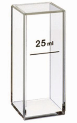 Cuvette for turbidity measurements, UV-range