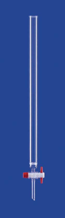 Chromatographic columns, PTFE- or Valve Stopcock, DURAN® tubing