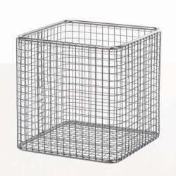Wire baskets square, stainless steel