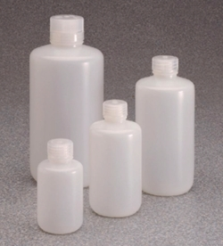 Narrow-mouth Bottles with Low Particle Content Type 382099, PassPort IP2, PE-HD, with screw cap, PP