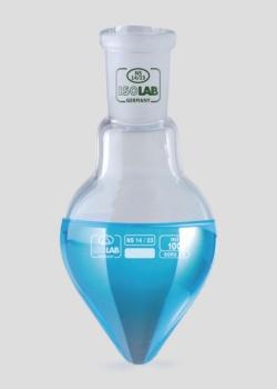Pear shape flasks, borosilicate glass 3.3