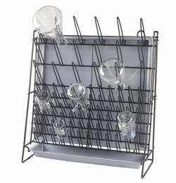 Draining racks, vinyl-coated steel