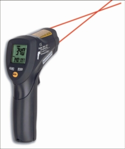 Infra-red thermometer with double-laser sighting, ScanTemp 485