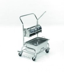 Clean room cleaning trolley PurMop® with press