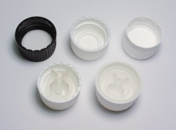 Screw caps for narrow-mouth bottles, PP 28