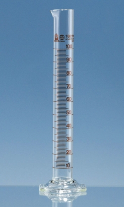 Measuring cylinders, borosilicate glass 3.3, tall form, class A, brown graduated