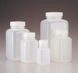 Square bottles, wide mouth Nalgene™, PPCO, with screw cap, PP