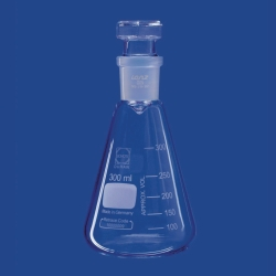 Iodine determination flasks, with and without collar, DURAN®
