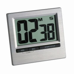 Digital countdown timer and stopwatch