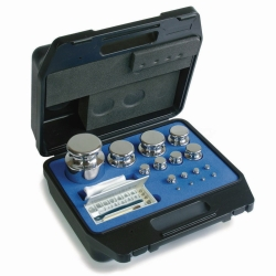 Weight set E2, cylindrical shape, with plastic case