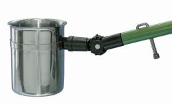 Angled sample beaker, stainless steel