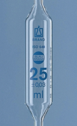 Volumetric Pipettes, AR-glass®, Class AS, 2 marks, Blue Graduation, with Individual Certificate