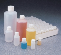 Narrow mouth bottles Nalgene™, HDPE, with closure, PP