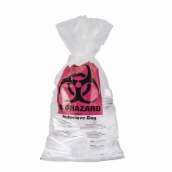 Autoclavable waste bags, biohazard, PP