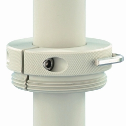 Screwthread connections for PP and PTFE drum pumps