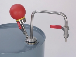 Solvent pump hand operated