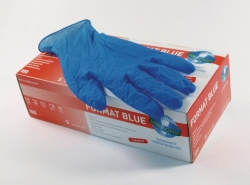Disposable Gloves Format Blue, Nitrile, Powder-Free
