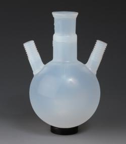 Round bottom flasks with GL threaded necks