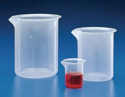 Graduated beakers, PP, low form