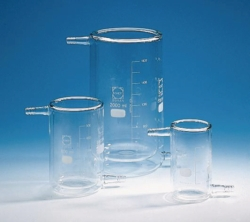 Beakers, glass, jacketed, type T