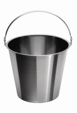 Buckets, 18/10 steel
