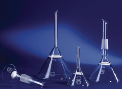 Filter funnels, conical, borosilicate glass 3.3