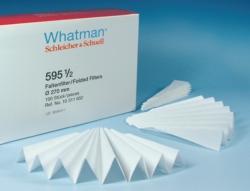 Qualitative filter paper, Grade 595½,  folded filters