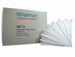 Qualitative filter paper, Grade 597½,  folded filters