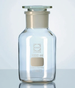 Wide-mouth reagent bottles with stopper, DURAN®