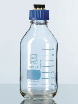 HPLC bottles, DURAN® complete system 4-port screw cap