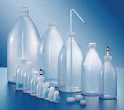 Narrow-mouth bottles, series 301, LDPE, with srew cap