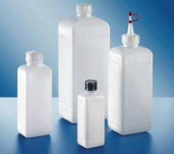 Square bottles, PE-HD and PVC, series 310