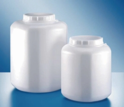 Wide-mouth bottles, with closure, 357 series, PE-HD