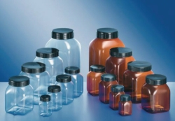 Square, wide-mouth containers, series 310, PVC