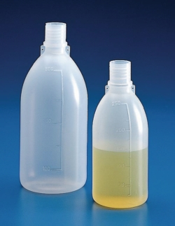 Narrow-mouth bottles, PE, graduated