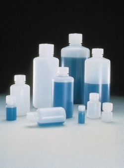 Narrow-mouth bottles Nalgene™, HDPE, with screw cap, PP
