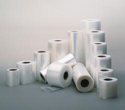 Plastic film, rolls