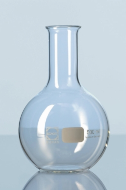 Flat bottom flasks, DURAN®, wide and narrow neck