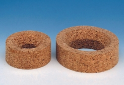 Flask rings, pressed cork