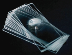 Microscope slides with cavities