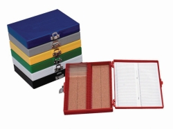 Durable microscope slide boxes
